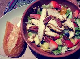 good eats strawberry poppyseed u0026 chicken salad lauren conrad