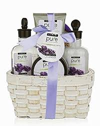 spa gift basket large lavender spa gift basket with lavender