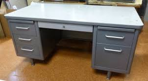 Vintage Metal Office Desk Metal Office Desk At Home And Interior Design Ideas