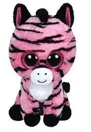 ty beanie boos zoey pink zebra plush stuffed animal birthday april