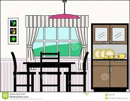 Dining Room Clip Art Black And White Clipart Collection - Art dining room furniture
