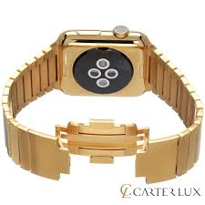 bracelet gold watches images Apple watch link 24 karat gold link bracelet series 2 carter lux jpg