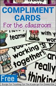 free compliment cards teamwork cards and in the classroom