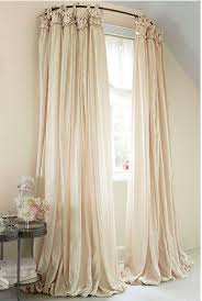 Shower Curtain To Window Curtain Use A Curved Shower Curtain Rod To Make A Window Look Bigger