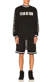 no fear motocross gear fear of god mesh motocross jersey in black fwrd