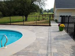 Brushed Concrete Patio Residential Hardscape Patios Bailey Landscape U0026 Maintenance