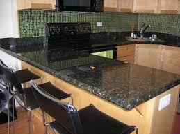 Black Granite Countertops With Tile Backsplash Granite Countertop - Granite tile backsplash ideas