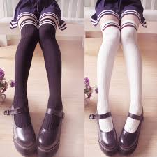 stockings cute kawaii japanese striped stockings cute kawaii harajuku