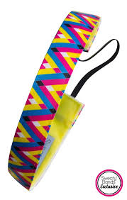 sweaty band sweaty band fitness headband confetti yellow blue pink 1