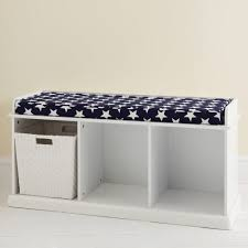 build white storage bench with cushion multifunctional home