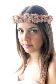 summer hair accessories on sale pink and gold floral crown boho flower crown woodland