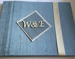 monogram guest book monogram guestbook etsy