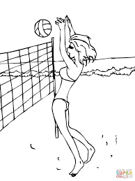 sports volleyball coloring pages printable player holidays