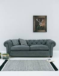 Chesterfield Sofa Bed Uk by Abbey Slate Tweed Chesterfield At Rose And Grey
