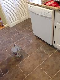 flooring in kitchen trafficmaster ceramica in sagebrush this