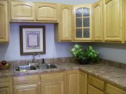 light blue kitchen paint color with oak cabinets paint colors