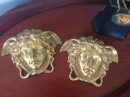 Garden Wall Plaque by A Pair Of Large Versace Shop Display Medusa Head Wall Plaques