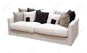 chemin de canapé canapé tissu rétro isolée avec chemin de détourage inclus banque d