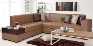 ko sofa buy alden lhs sectional sofa in brown leatherette by evok