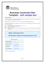 business contingency plan example mughals