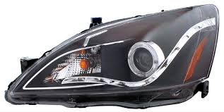 2004 honda accord headlights 03 05 honda accord 2dr g2 r8 led style halo projector headlights