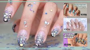 20 broken and shattered glass nail art trend 2016 30 white