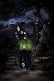 goth halloween background