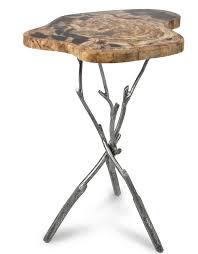 petrified wood end table furniture petrified wood upper east side table pf 1050 a i r e