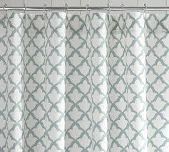 Gray Ruffle Shower Curtain Marlo Organic Shower Curtain Pottery Barn