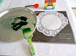 diy dyed doily placements plentiful pennies