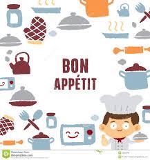Bon Appetit Kitchen Collection Cooking Bon Appetit Poster Stock Vector Image 39801232