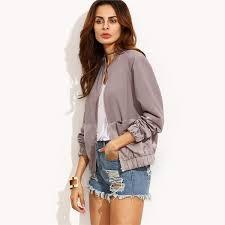 light bomber jacket womens women s regular xs s m l light purple everyday casual bomber jacket
