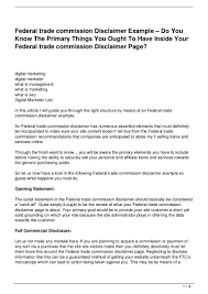 federal trade commission disclaimer example u0026 8211 do you know the p u2026