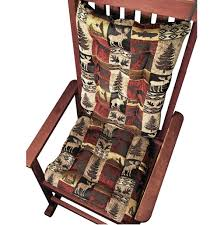 Barstool Cushions Woodlands Fairbanks Rocking Chair Cushions Latex Foam Fill