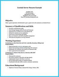 bartender resume exles resume free exles 1000 free resume exles compare