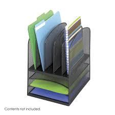safco onyx mesh desk organizer amazon com safco products 3266bl onyx mesh desktop organizer with