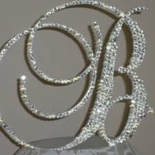bling wedding cake toppers wedding cake toppers with bling picture bling monogram wedding