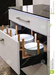 modern kitchen plates modern kitchen draw stock photo image 40035909