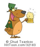 bear clipart 19341 happy bear wearing a green party hat and