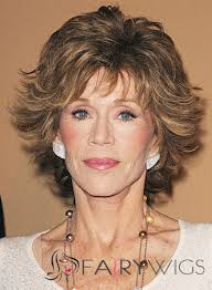 are jane fonda hairstyles wigs or her own hair mysterious jane fonda short wavy capless real human hair wigs
