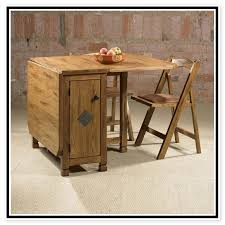 Drop Leaf Table With Chair Storage 12