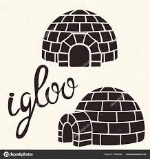 pattern block house template ice house igloo set vector simple design house ice blocks stock