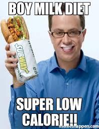 Subway Sandwich Meme - boy milk diet super low calorie meme custom 27085 page 6