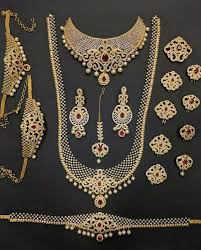stone necklace sets images Necklace set full designer bridal set in cz stones manufacturer jpeg