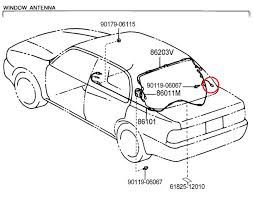 camry 98 rear window antenna connection toyota nation forum