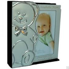 engravable photo album engraved silver plated teddy album this is a beautiful baby