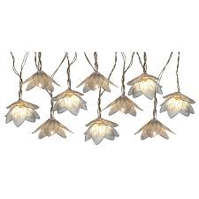 shop 8 5 ft 10 light white metal shade in flowers string