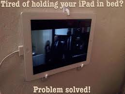Ipad In Wall Mount Docking Station Tired Of Holding Your Ipad In Bed Problem Solved Use 3 Hanging
