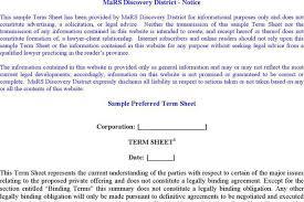 sample term sheet download free u0026 premium templates forms