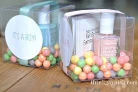 nail baby shower favors baby shower favors a pink or blue nail depending on